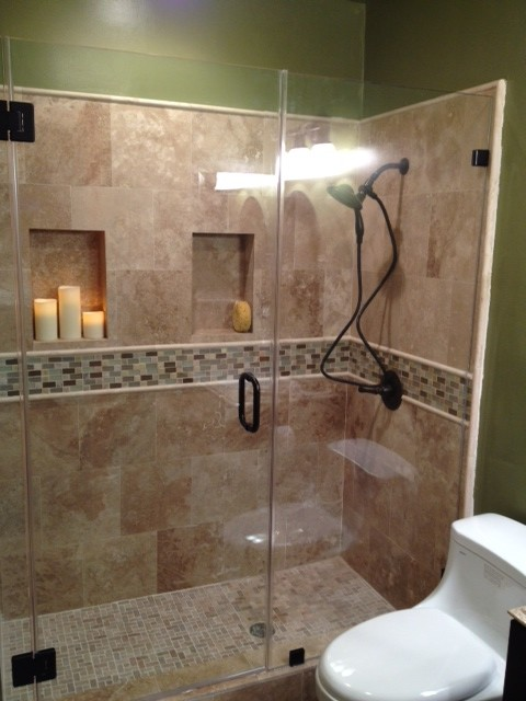 industrial lighting fixtures for kitchen ready made cabinets travertine shower 2 - traditional bathroom los angeles ...
