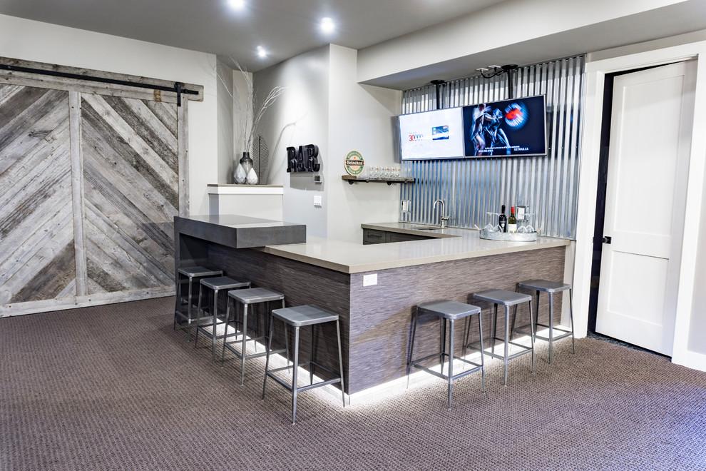 Modern Farmhouse - Industrial - Home Bar - Edmonton - by ...