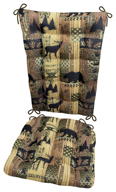 large rocking chair cushion sets high deals woodlands brentwood extra set rustic seat cushions by barnett home decor