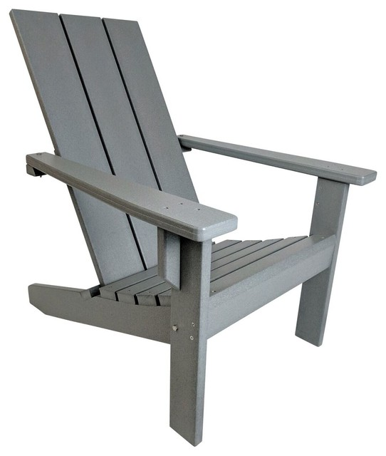 modern style adirondack chairs counter high table and chair sets poly contemporary by gray