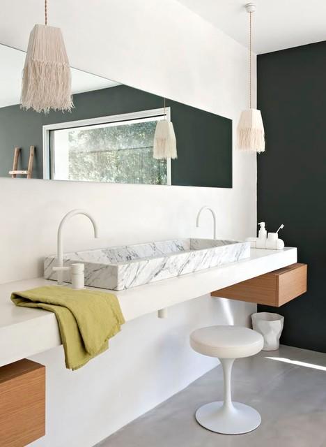 salle de bains en marbre
