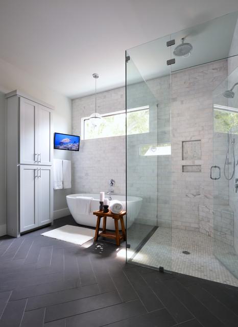 Forest Hills Modern Farmhouse  Transitional  Bathroom  Dallas  by Lilli Design