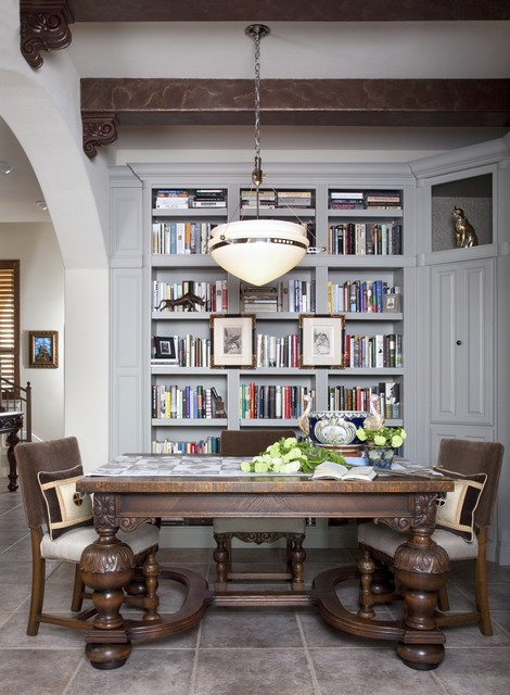 Library Dining Traditional Dining Room Austin By