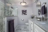 Purple and Gray Bathroom - Contemporary - Bathroom - St ...