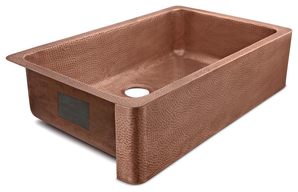 porter farmhouse apron front handmade 36 single bowl sink antique copper