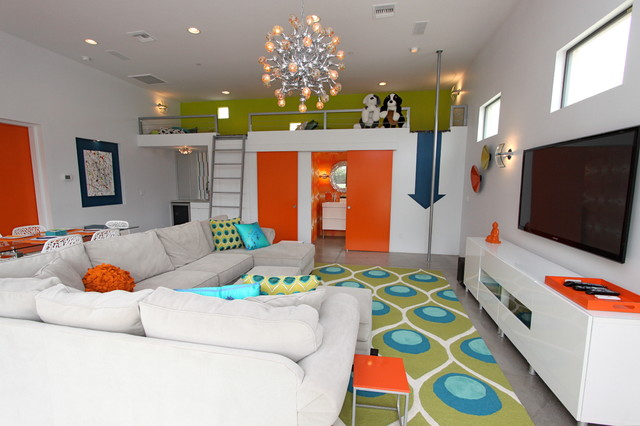 PlayGuest House Contemporary Family Room Phoenix By Chimera Interior Design