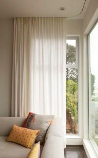 Modern curtains on recessed track - Modern - Window ...