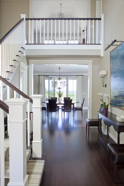 Grand foyer  Eclectic  Entry  Boston  by Kate Jackson Design