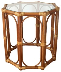 Rattan Coffee End Table Trudi - Tropical - Side Tables And ...