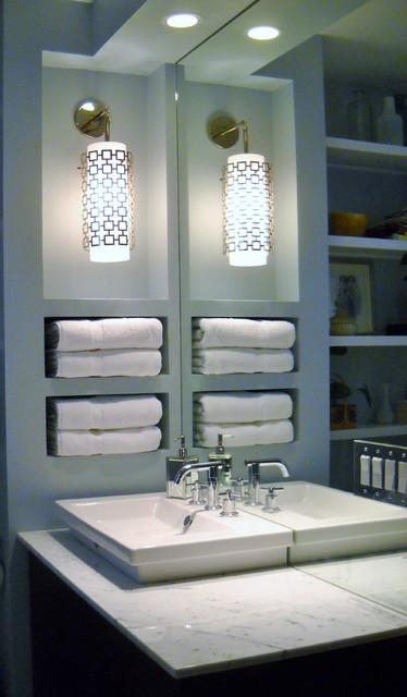 Built In Niche  Modern  Bathroom  Other  by Julie Kay