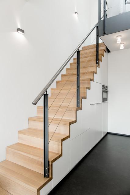 Gerade Treppe Modern gerade eichenholztreppe daniel beutler treppenbau gerade treppen aus