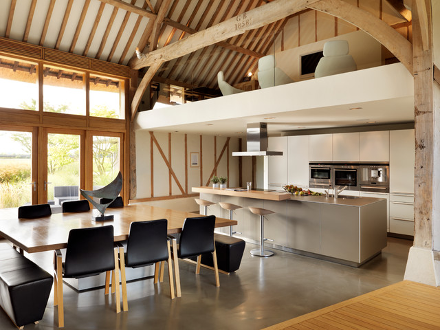 Eco Barn Conversion Contemporary Kitchen Cheshire By Kitchen
