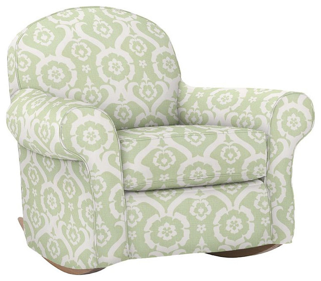 slipcover for glider rocking chair medical equipment bath dream rocker & ottoman - traditional chairs by pottery barn kids