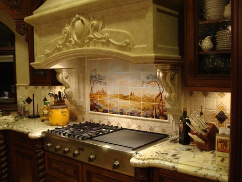 tuscan style kitchen beige tiles popular styles the painterati natural colored brick or colorful vintage tile is perfect for a complete italian look add mural to your