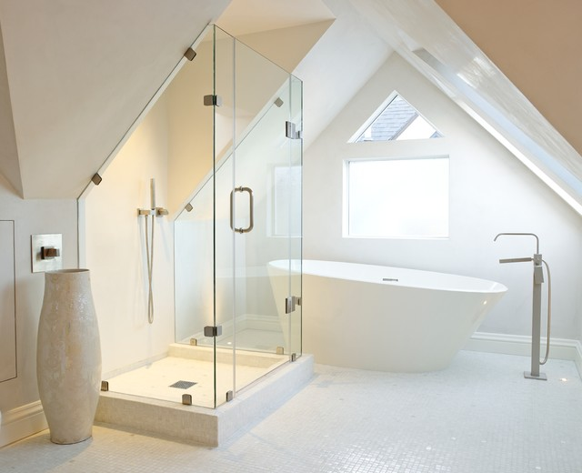Pacific Heights SF Venetian Plaster Contemporary Bathroom San Francisco By Level Five