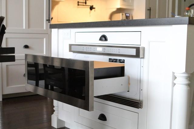 Wolf microwave warming drawer  Contemporary  Kitchen