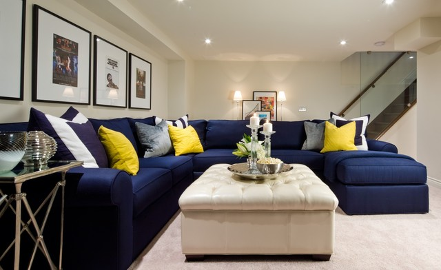teal dining chairs think chair steelcase jane lockhart basement navy sectional - transitional living room toronto by ...