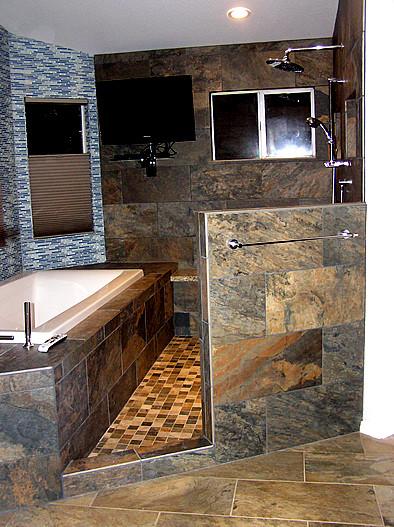 Master Bath After Remodel Wet Room Area Contemporary Bathroom Phoenix