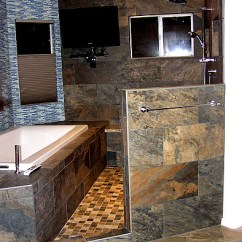 Remodel Kitchen On A Budget Tables Big Lots Master Bath After - Wet Room Area Contemporary ...