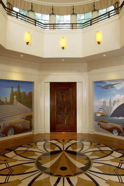 Art Deco Designed Foyer  Traditional  Entry  DC Metro