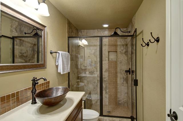 basement bathroom & shower - transitional - basement - denver - by
