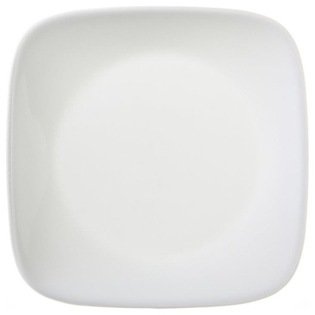 Corelle Square Round Lunch Plate, Pure White