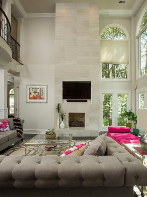 Modern  Elegant McLean Home  Contemporary  Living Room