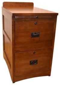 Mission Solid Oak 2-Drawer File Cabinet - Craftsman ...