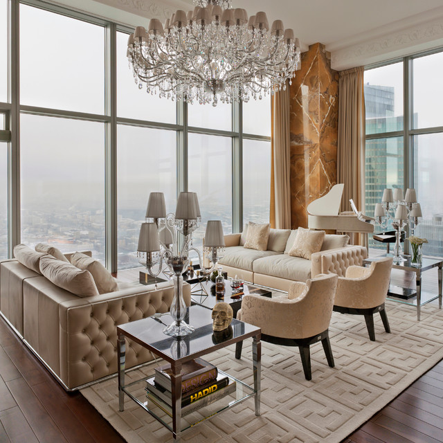 Luxury Penthouse  Contemporary  Living Room  New York
