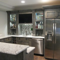 Grey Sectionals Sofas Decorate Around Black Leather Sofa Finished Basement - Contemporary Kitchen Chicago