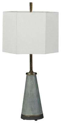 faux concrete and brass table lamp Culver Lamp ...
