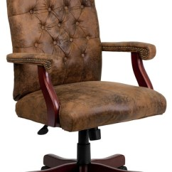 Brown Swivel Chair Cover Rentals Houston Tx Bomber Classic Transitional Office Chairs