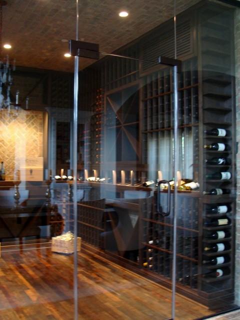 Glass Custom Wine Cellar Door Orange County  Contemporary  Wine Cellar  orange county  by