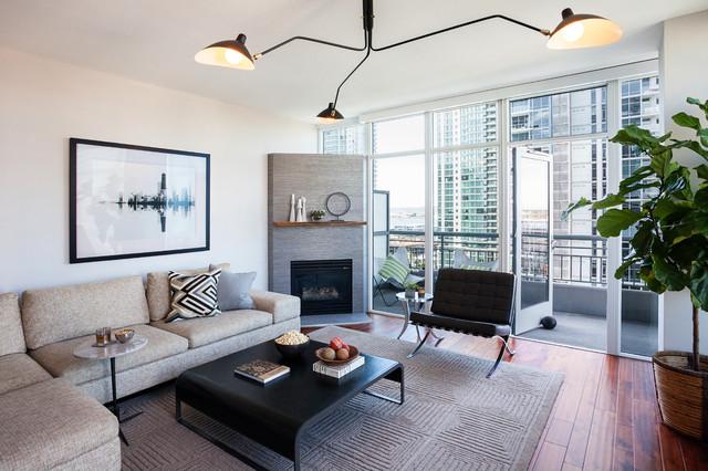 Little Italy Condo  Contemporary  Living Room  San