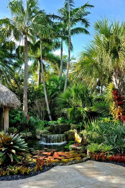 jones residence - tropical landscape