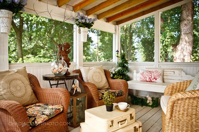 interior designs  Rustic  Porch  Kansas City  by Chad Jackson Photo