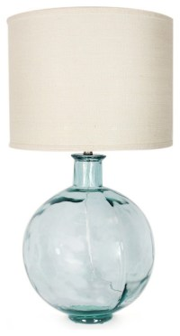 Recycled Glass Ball Lamp - Transitional - Table Lamps