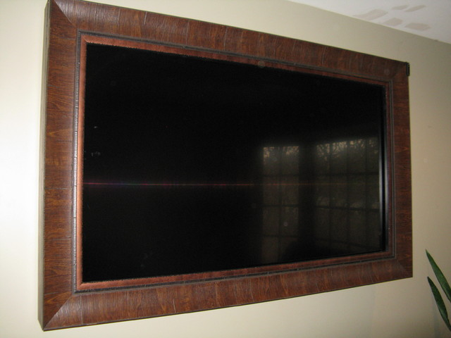 TV Frames  Traditional  Family Room  Salt Lake City  by Smart Touch Design  Flat Screen TV