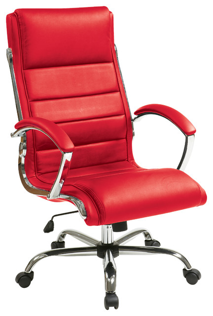 office chair red covers direct uk work smart executive black contemporary chairs