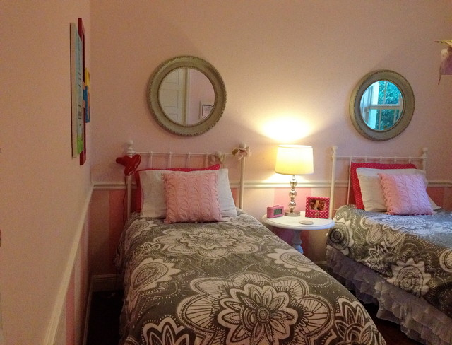 Pink and Gray Girls Room  Contemporary  Kids  Other