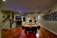 Ashburn Transitional Basement - Pool Area & Stairs ...