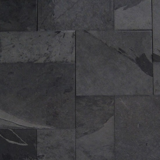 16 sq ft kit gauged montauk black french pattern slate tile sample