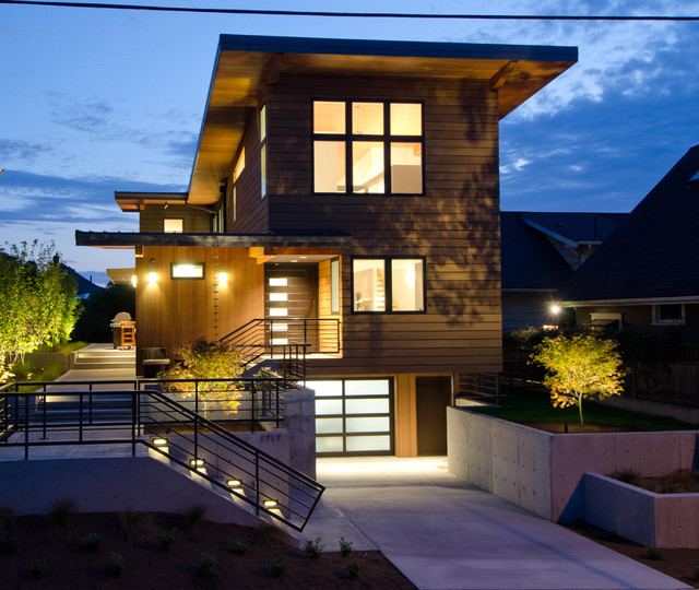 Queen Anne Residence  Contemporary  Exterior  Seattle  by Lee Edwards  residential design