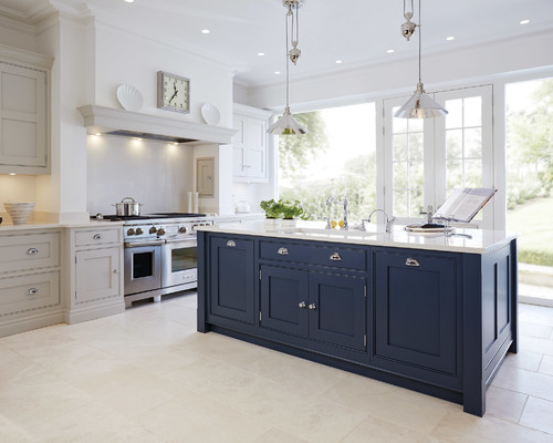 navy blue painted kitchen cabinets Navy Cabinets - Popular Cabinet Color Trend • Queen Bee of Honey Dos