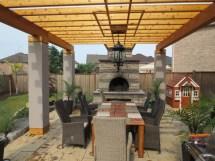 outdoor living space - pergola