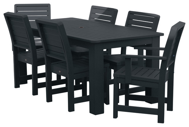 Weatherly 7-Piece Rectangular Dining Set,Weathered Acorn