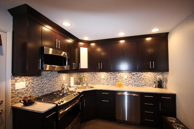 Light Granite Kitchen  Contemporary  Kitchen  New York