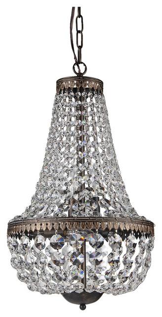 6 Light Crystal Chandelier Antique Bronze Contemporary Chandeliers