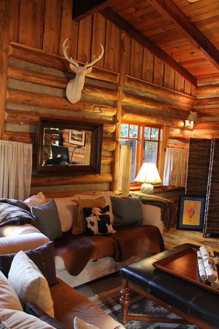 Adirondack Style Lodge  Rustic  Living Room  Los Angeles  by Madison Modern Home