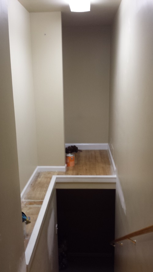 Big empty space over stairwell